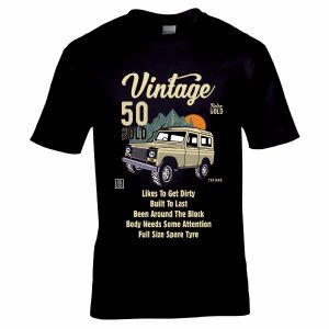Premium Funny 50 Year Old Off Road Vehicle Retro 4x4 Classic Vintage Car Motif Birthday Gift T-shirt